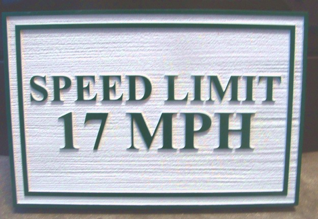 KA20670 - Carved Wood Grain HDU Sign for Speed Limit in MPH