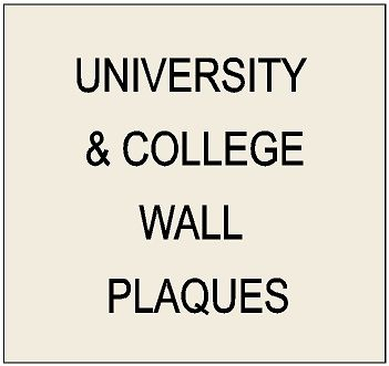 Y34300 - Wall Plaques of the Great Seals and Logos of Universities and Colleges