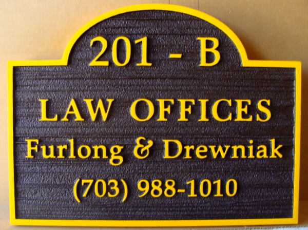 A10025 -  Sandblasted Law Office Sign