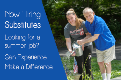 Looking for a summer job? Gain Experience. Make a Difference