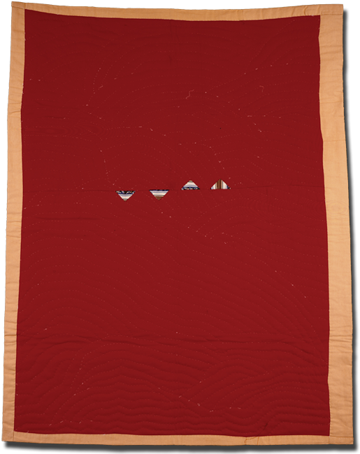 'The Red Quilt,' made by Yvonne Wells, circa 1990, 79 x 60 in, IQSCM 2000.004.0137