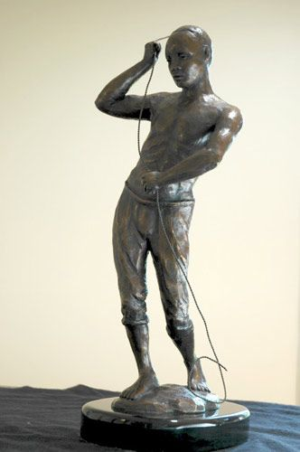 "Affirmative Action, Bronze, 19"" x 9"" x 6"""