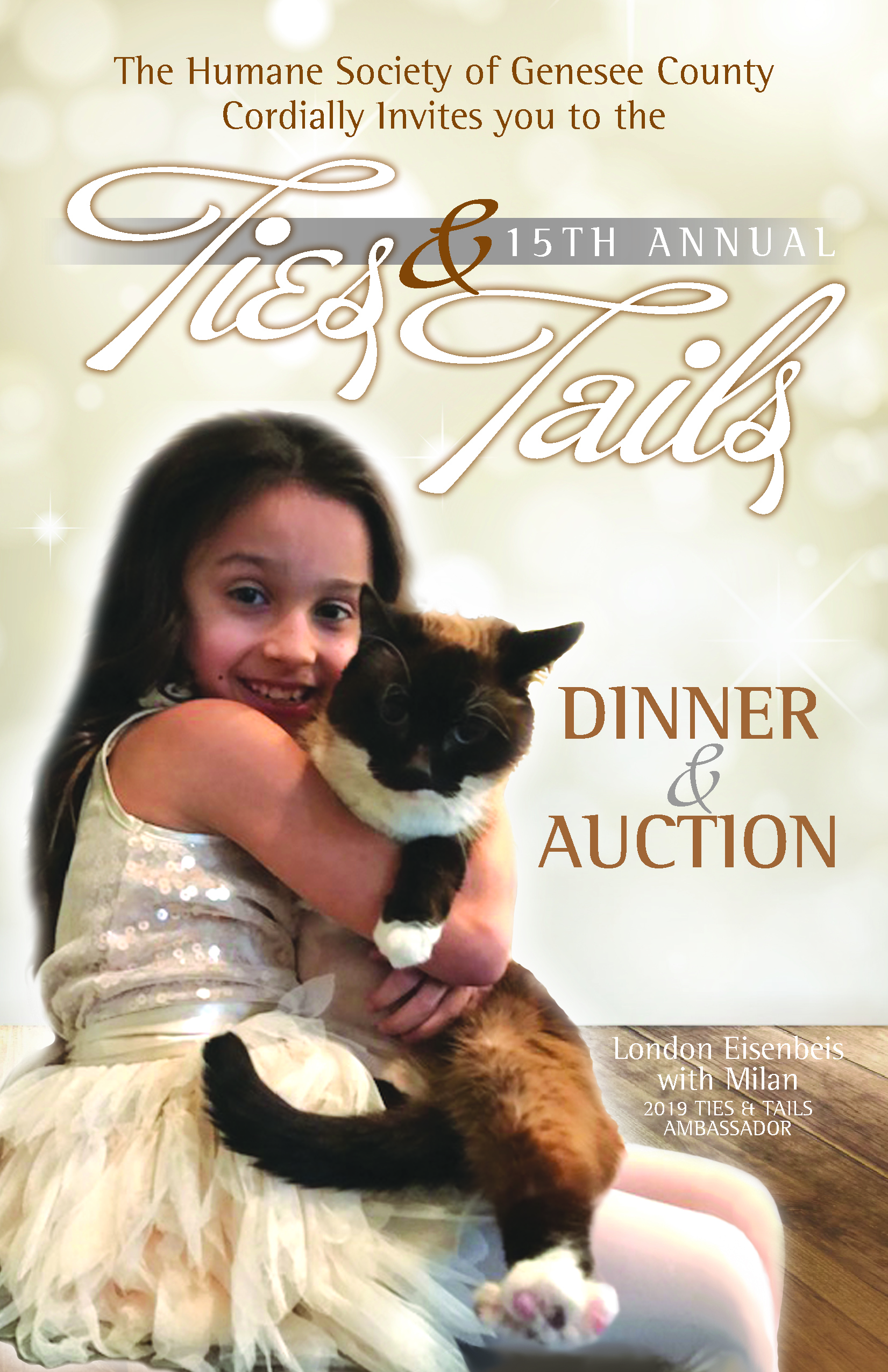 LIVE AUCTION-Ties & Tails Pet Ambassador 2020