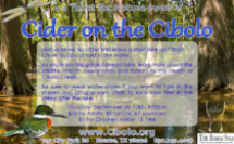 a Thirst for Nature event: Cider on the Cibolo