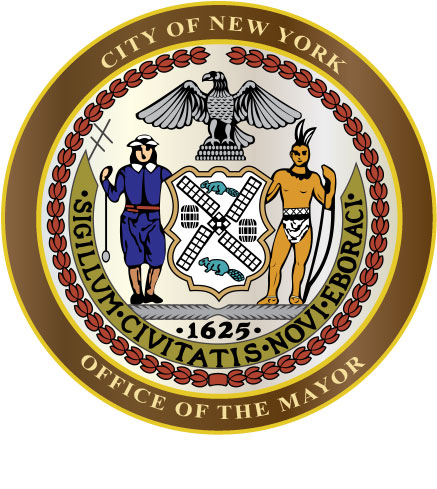 X33110 - Carved Wooden Wall Plaque (Personalized with Name) of the Seal of the City of New York, Mayor's Office