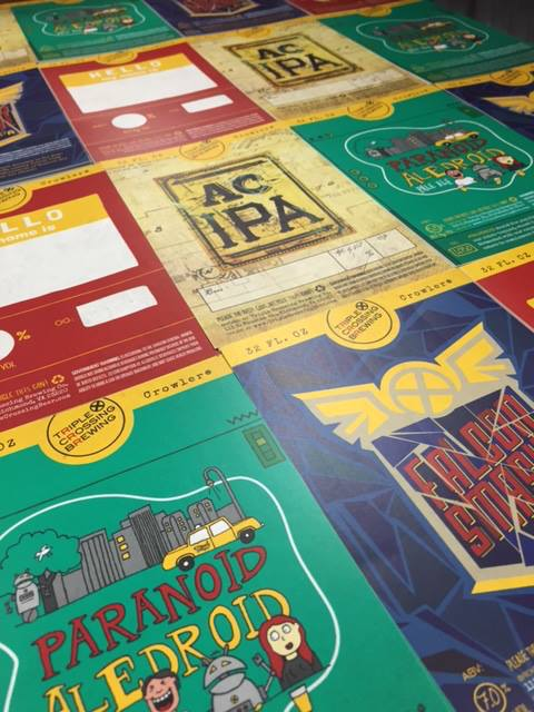 Beer and wine labels at zooom printing