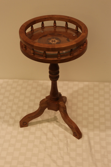 Round Cherry Table - Donated by the artist, Ron Thomas