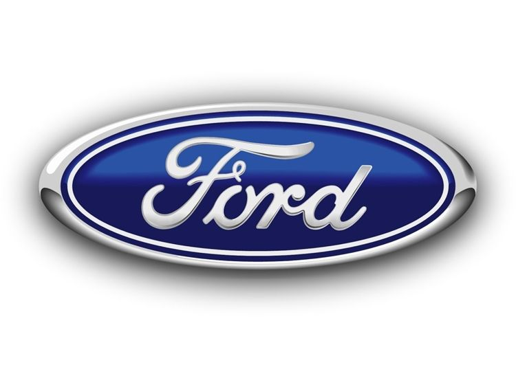 VP-1100 - Carved Wall Plaque of the Logo of Ford, Aluminum Plated