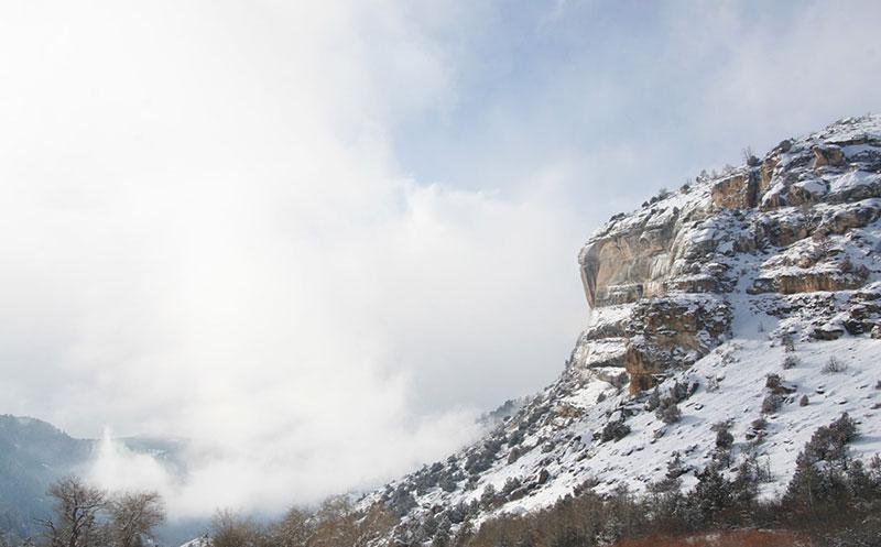 Snow on Tensleep Sandstone