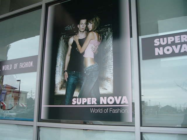 Clothing Store Window Graphics