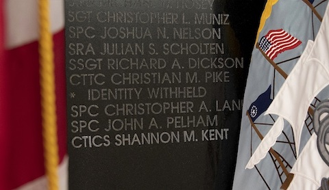 Shannon M. Kent Honored on Cryptologic Memorial Wall