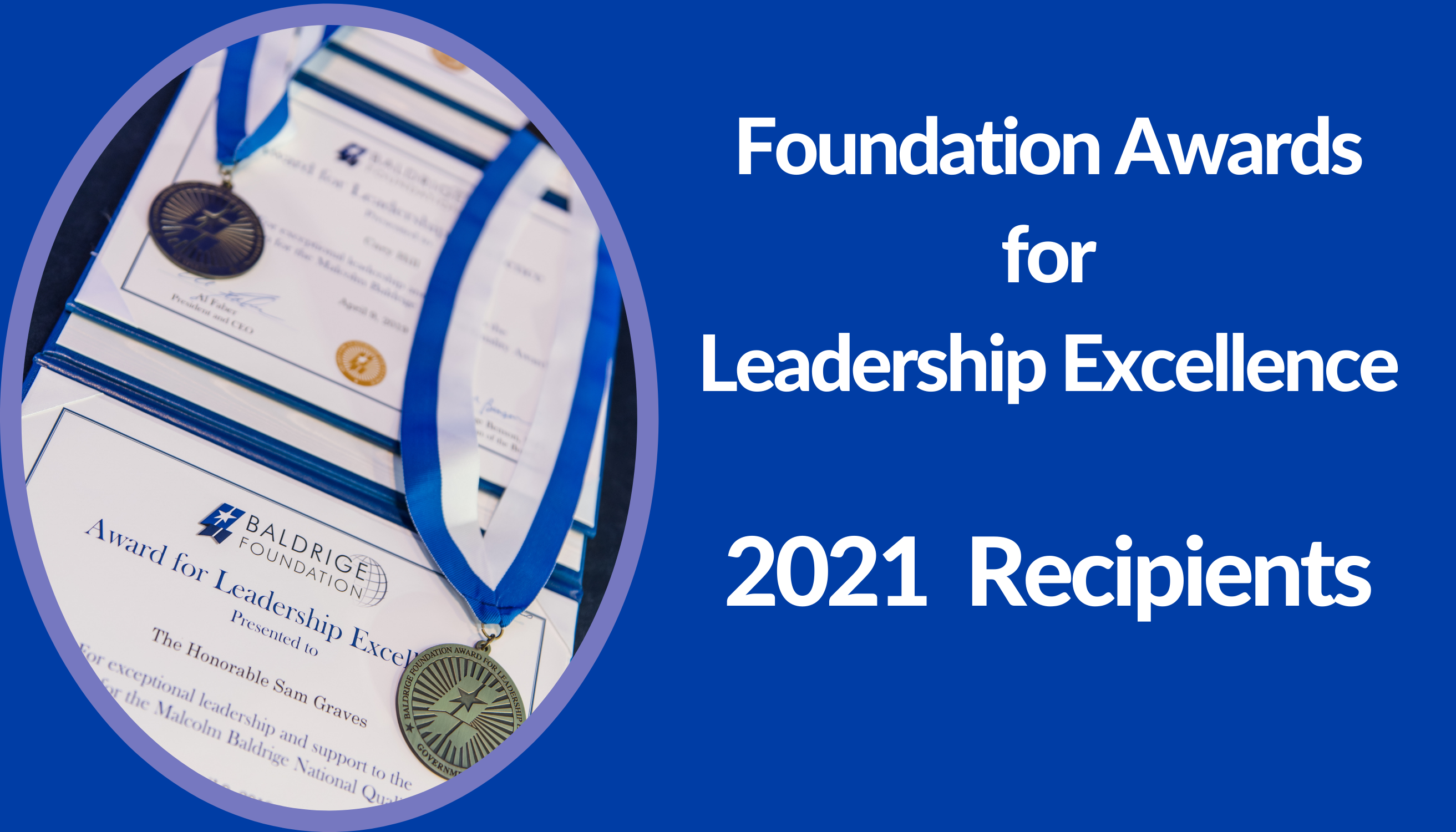 Leadership Excellence Awardees, 2021