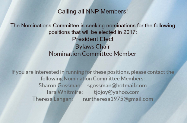 Wanting to become more involved in NNP?  Please consider these opportunities!