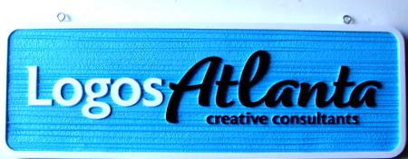 SA28503 - Sandblasted HDU Sign for Logos & Creative Consulting Business