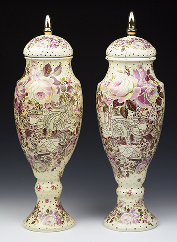 Putnam-Phillips, Jessica - Ashes of Rose, Urn Pair (Honorable Mention)