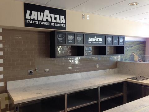 Coffee and espresso cafe interior signs Orange County