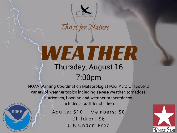 CNC: a Thirst for Nature event - Weather