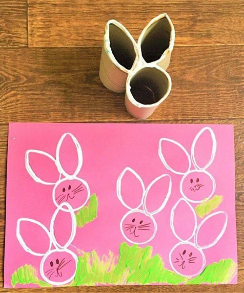 TOILET PAPER BUNNY STAMPS