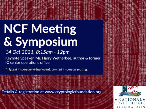 Register for the 2021 NCF Meeting & Symposium - 14 Oct