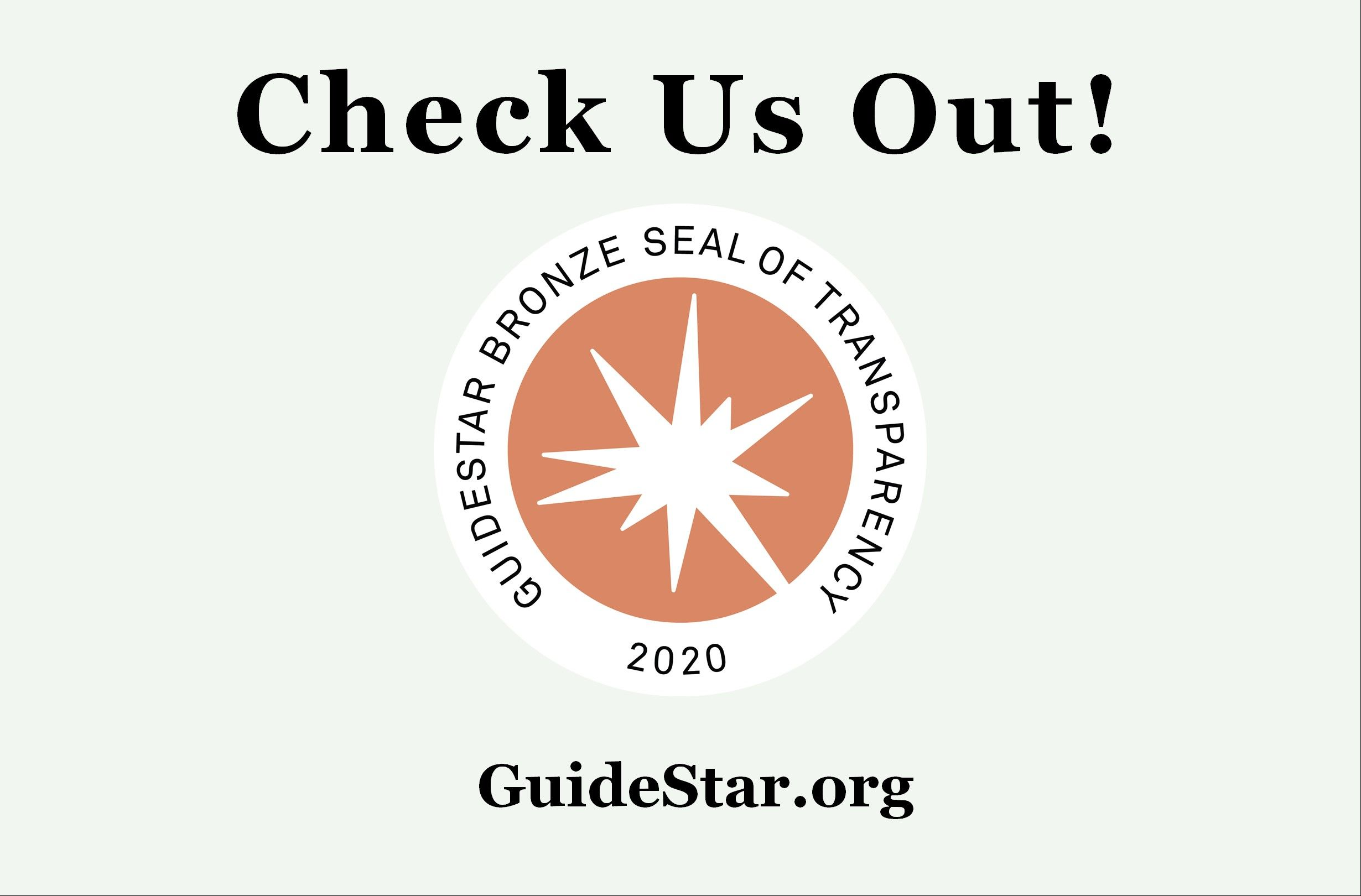 Check us out on GuideStar!