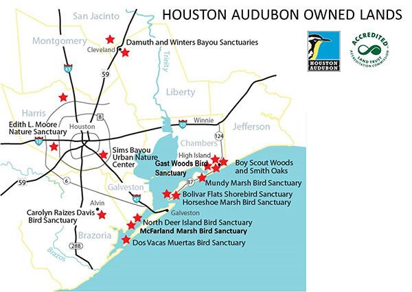 Houston Audubon Owned Lands
