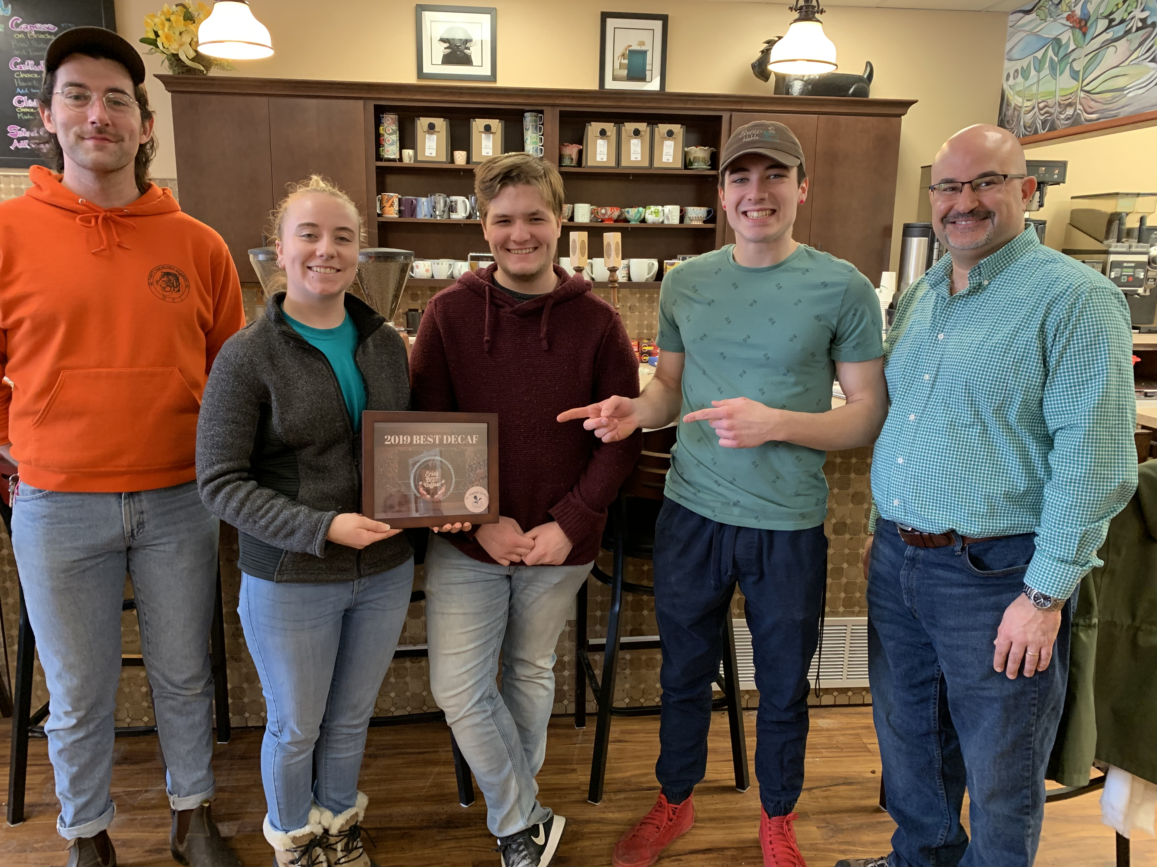 Best Decaf award: Brew Ha Ha at the Colony
