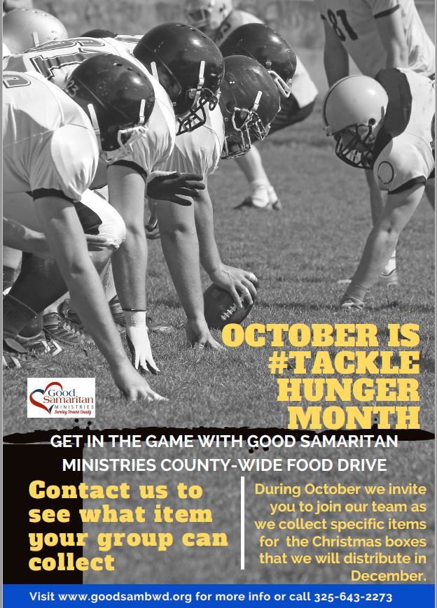 October is  #TackleHunger Month!