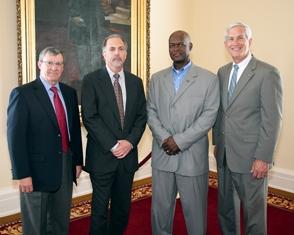 Sen. Paul Bussman, Walter Wood, Marlin Barton, & Cleveland Gavin.