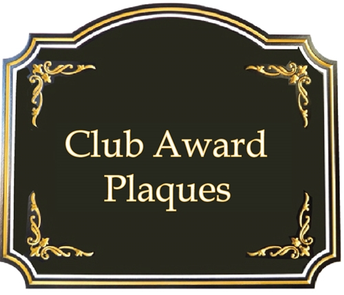 (E) Award Plaques for Clubs, Lodges and other Public Service & Fraternal Organizations