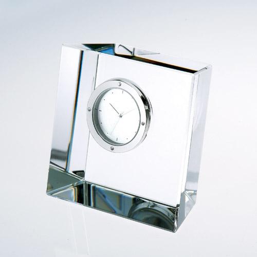 TM Crystal Slanted Block Clock