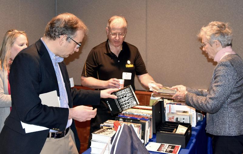 Book sales in the lobby at 2019 NCMF Spring Program