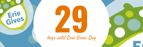 July 15, 2019 Erie Gives email reminder: 29 days until Erie Gives 2019!