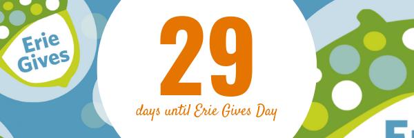 July 15, 2019 Erie Gives email reminder: 29 days until Erie Gives 2019!