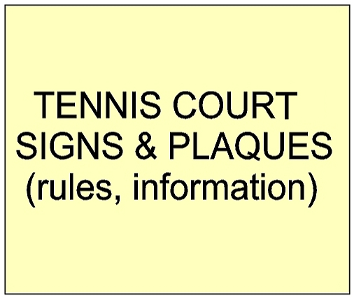 4. - GB16840 -Tennis Court Entrance and Rules Signs