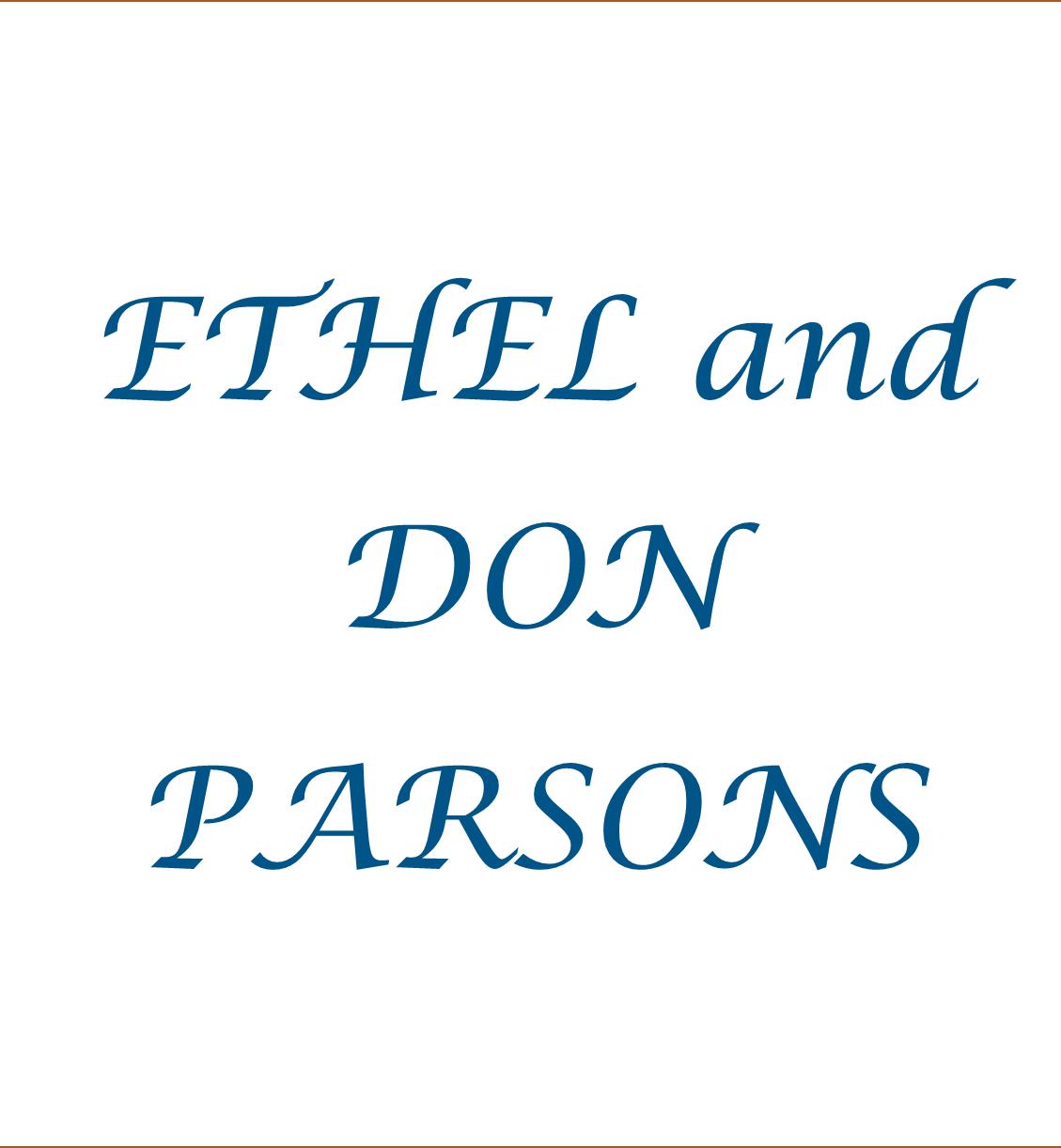 Ethel & Don Parsons
