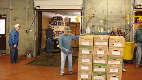 Each box has been carefully hand-packed by a volunteer at a Wisconsin Division sorting station.