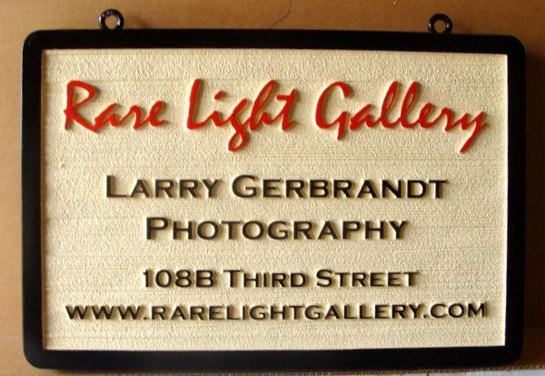 """SA28410 - Wood Grain Sign for the """" Rare Light Gallery""""  Photography Studio"""