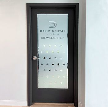 Custom Cut Frosted Privacy Vinyl