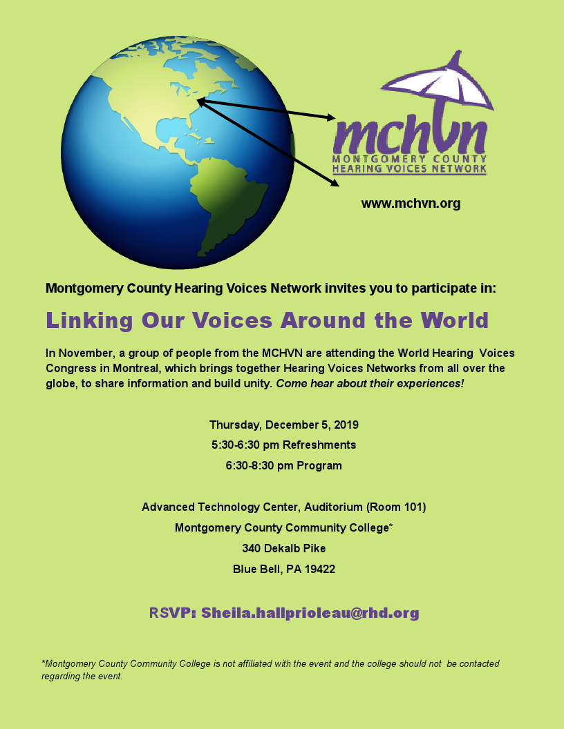 Montco Hearing Voices Network Event at MCCC