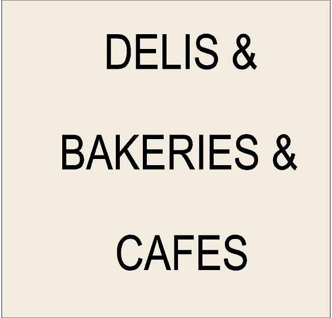 Q25550 - 6. Signs for Delis, Bakeries, Cafes and Food Stores
