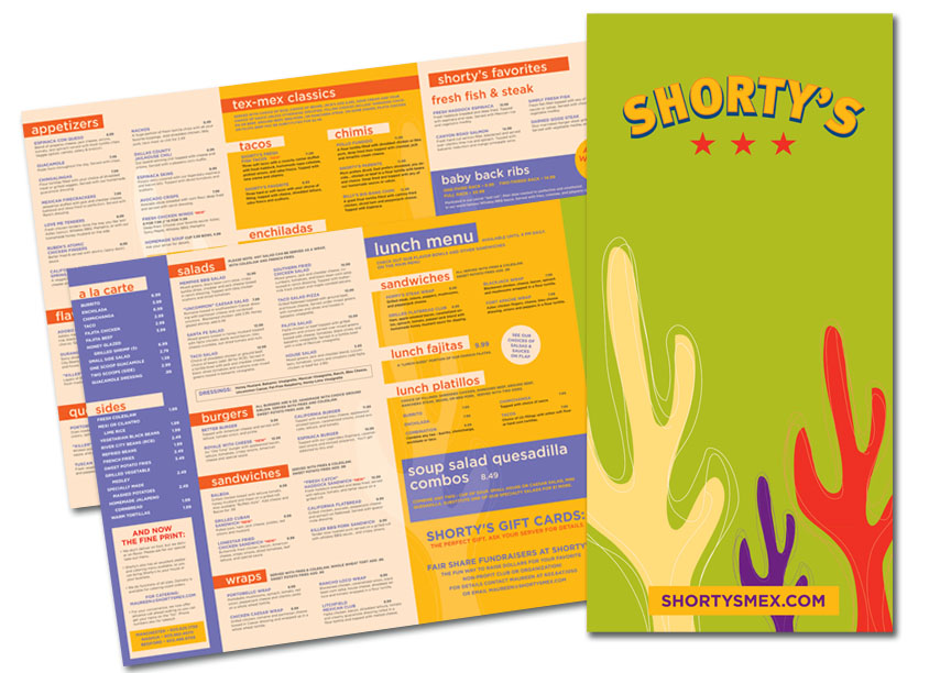 Shorty's Mexican Roadhouse Menu