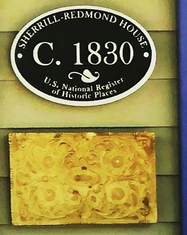 F15982 - Carved HDU  Outside Wall plaque for the Sherill-Redmond House,in the National Register of  Historic Places