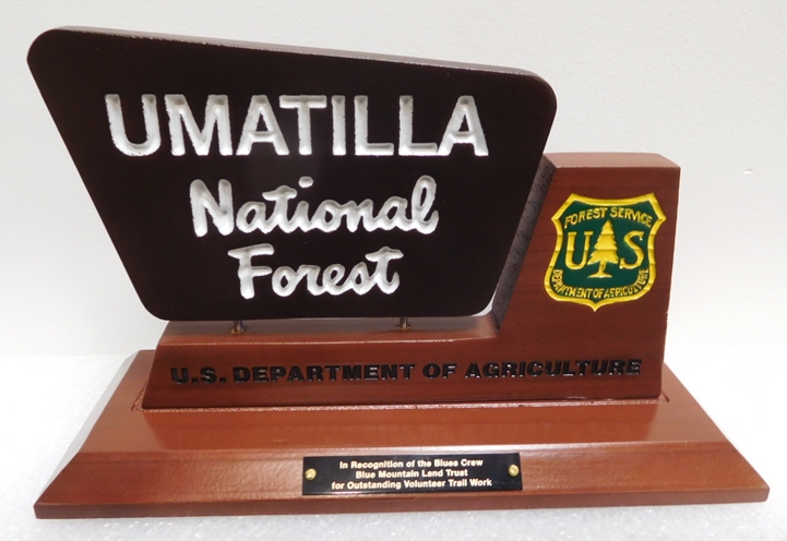 AP-5765- Table Top Plaque for Umatilla National Forest