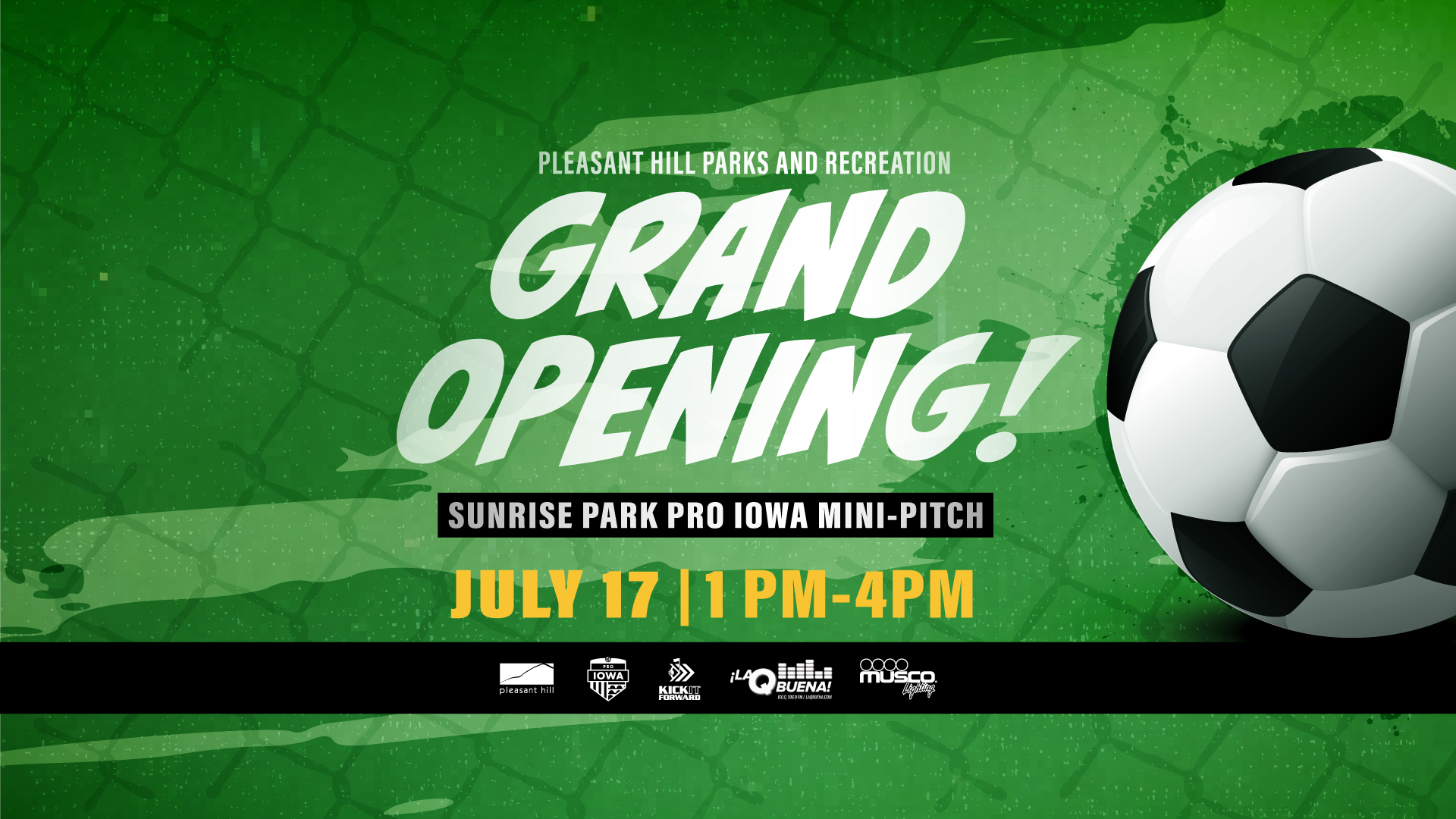 Grand Opening Sunrise Park Mini-Pitch