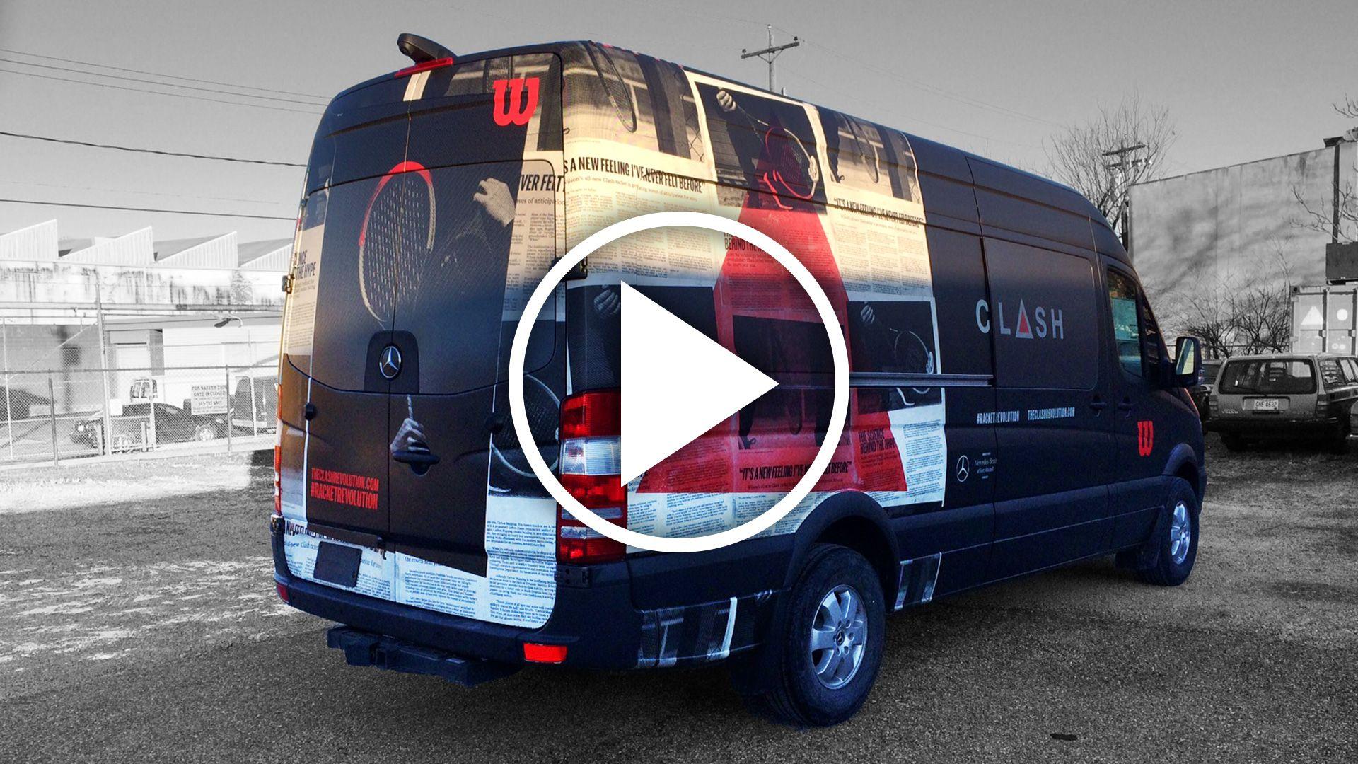 Wilson Clash Van Wrap
