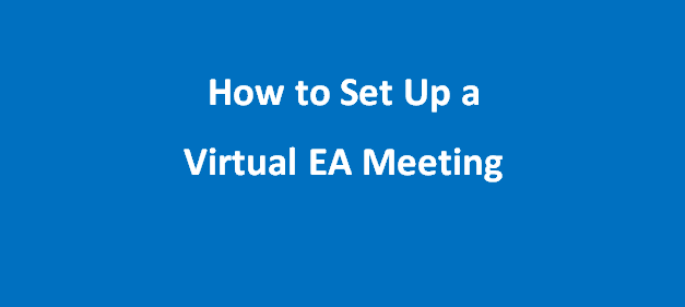 How to Start a Virtual meeting.