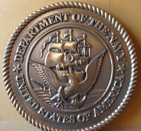 MA1110- Great Seal of the US Navy, 3-D