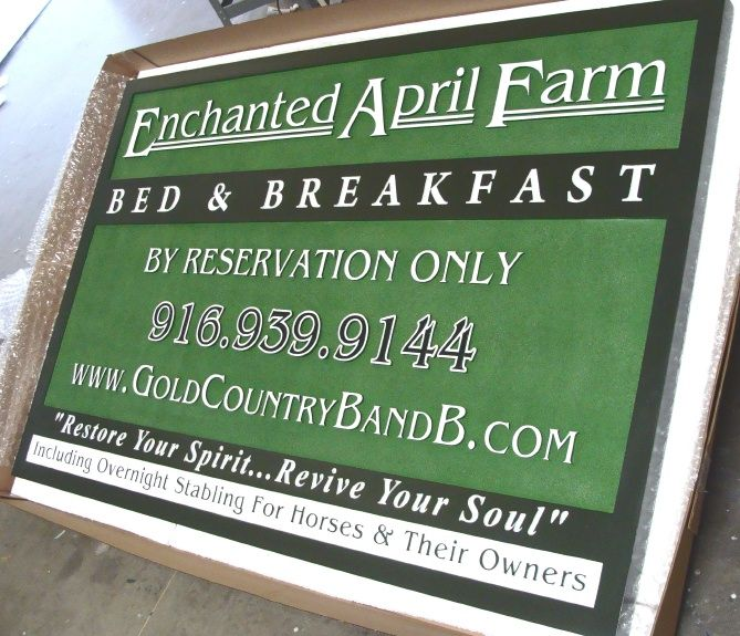 O24891 - Carved and Sandblasted Farm B&B Farm Sign