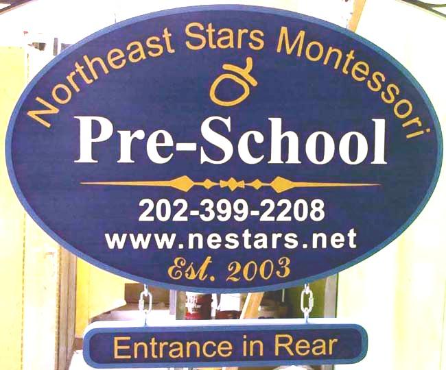 M1009 - Montessori Pre-School Sign (Gallery 15A)