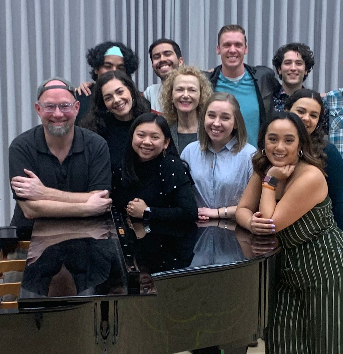 Scott Coulter shares his Broadway experience with UCI Claire Trevor School of the Arts Musical Theater students